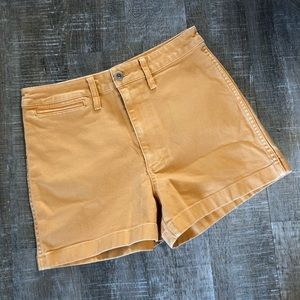 NWT Madewell Golden Yellow Chino Shorts